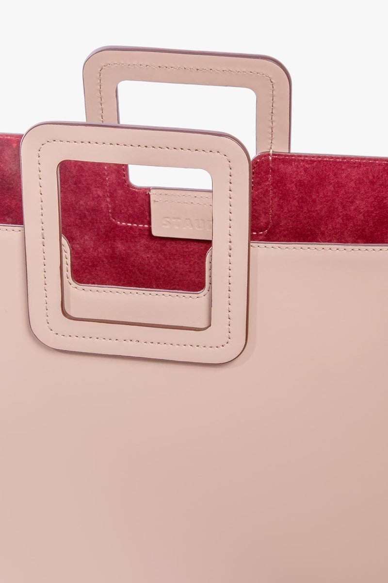 STAUD SHIRLEY LEATHER BAG | BLUSH