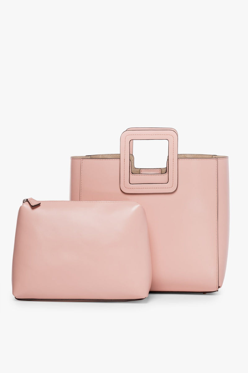 STAUD SHIRLEY LEATHER BAG | DARK BLUSH