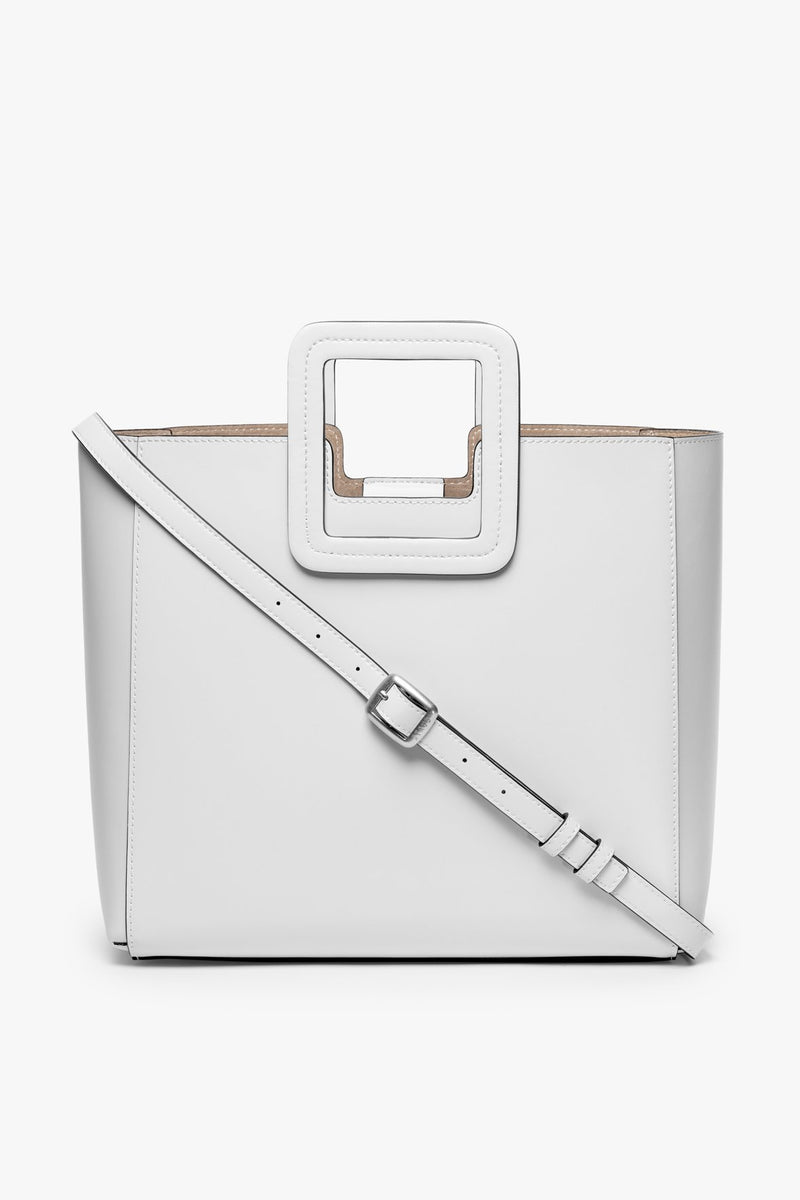 STAUD SHIRLEY LEATHER BAG | FRESH WHITE