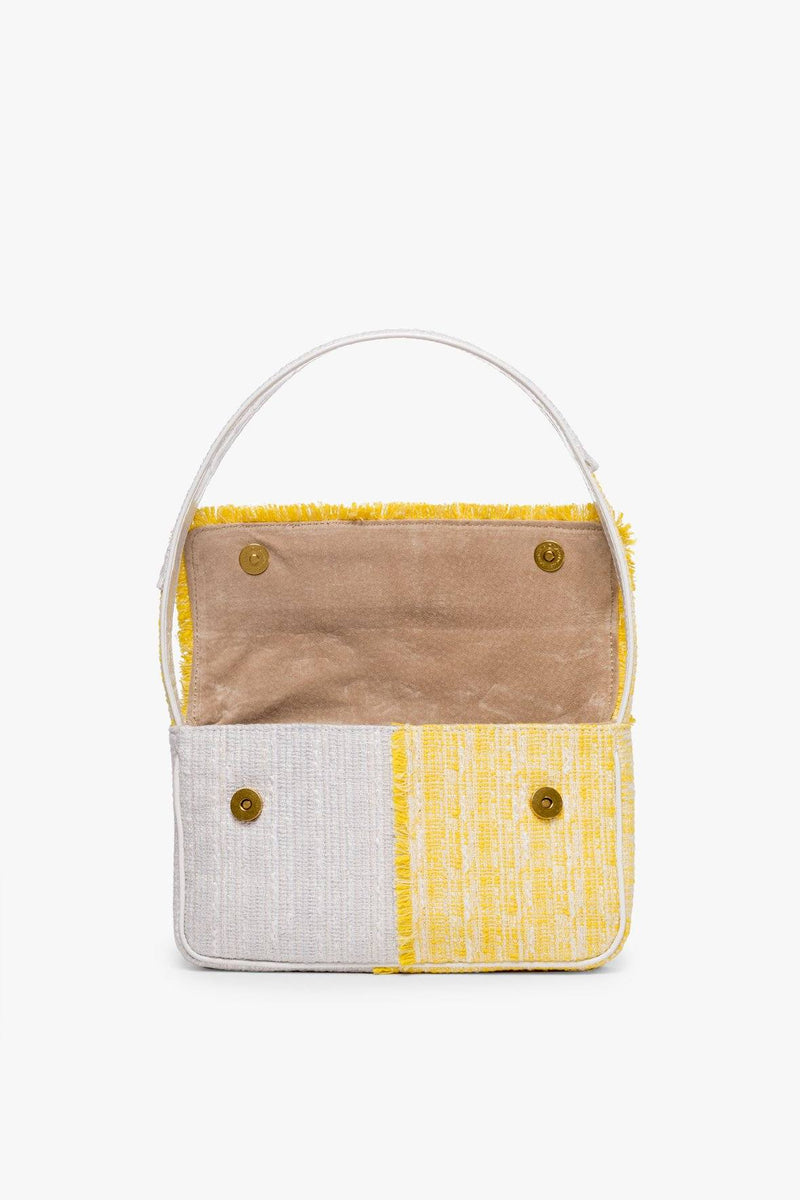 STAUD TOMMY TWEED BAG | LIMONE FOG