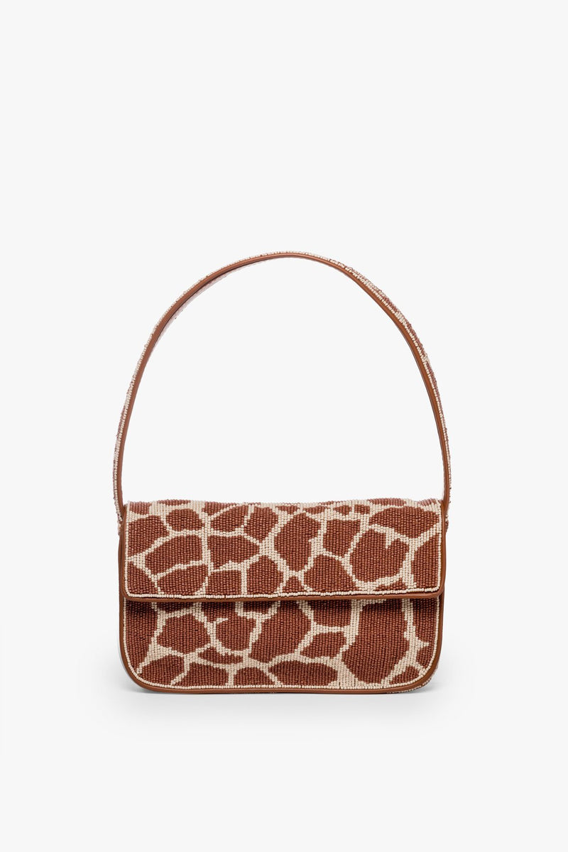 STAUD TOMMY BEADED BAG | GIRAFFE