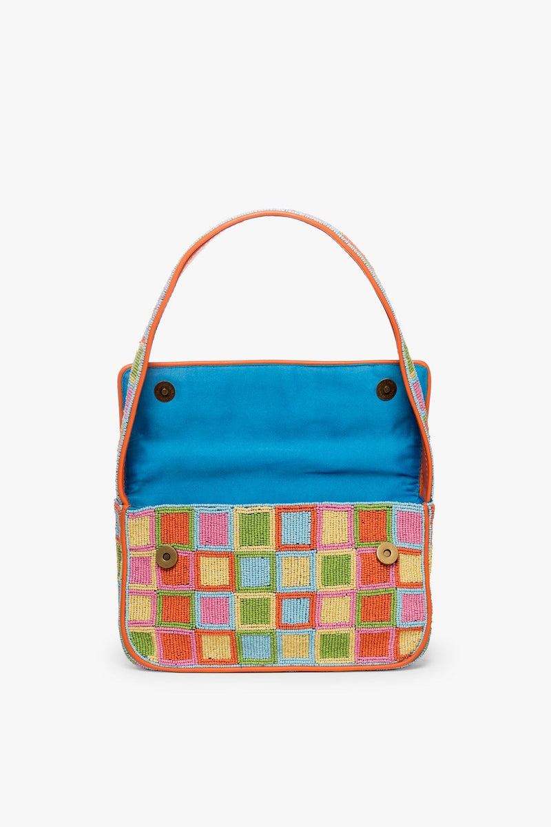 STAUD TOMMY BEADED BAG | MULTI MOSAIC