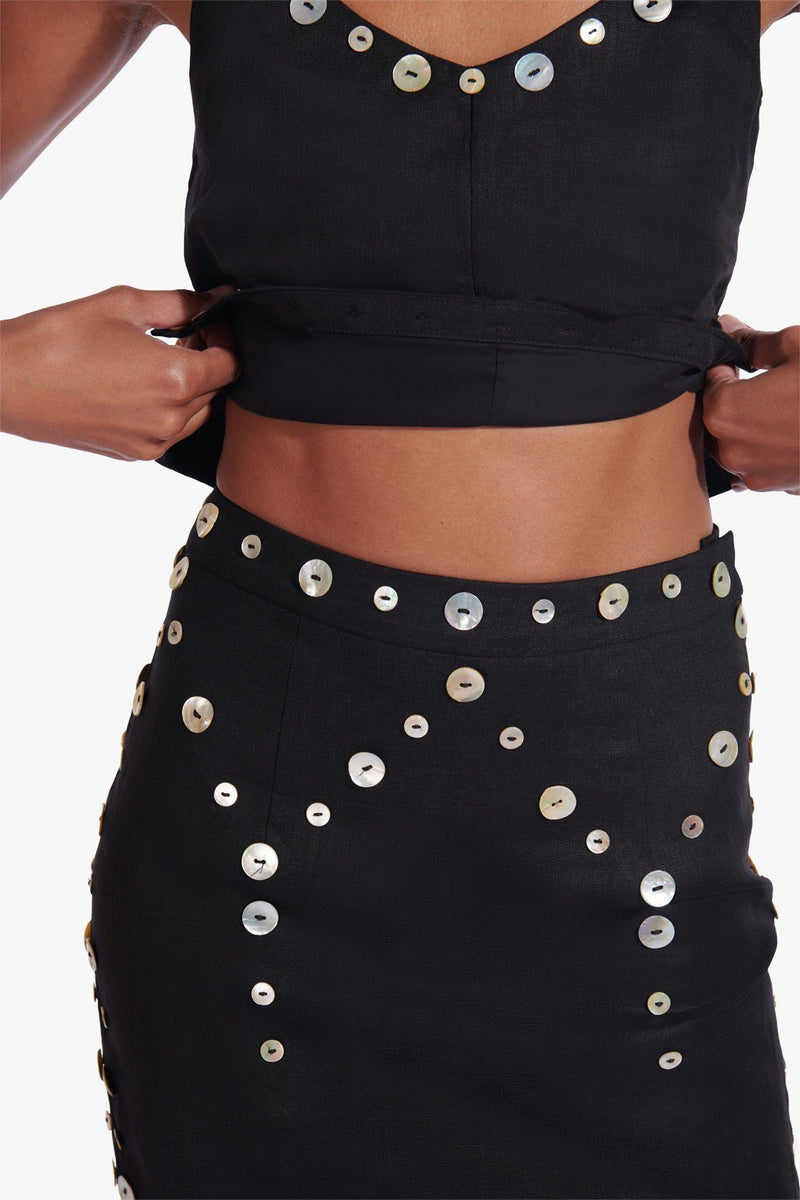 STAUD LAZIO SKIRT | BLACK