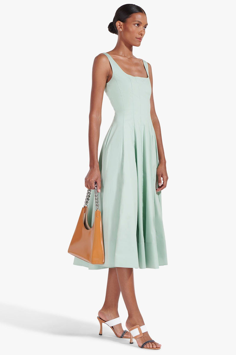 STAUD WELLS DRESS | SAGE