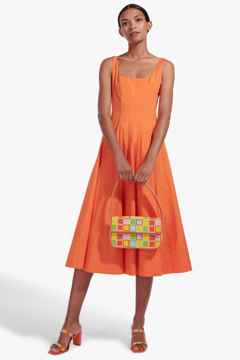 STAUD WELLS DRESS | NECTARINE
