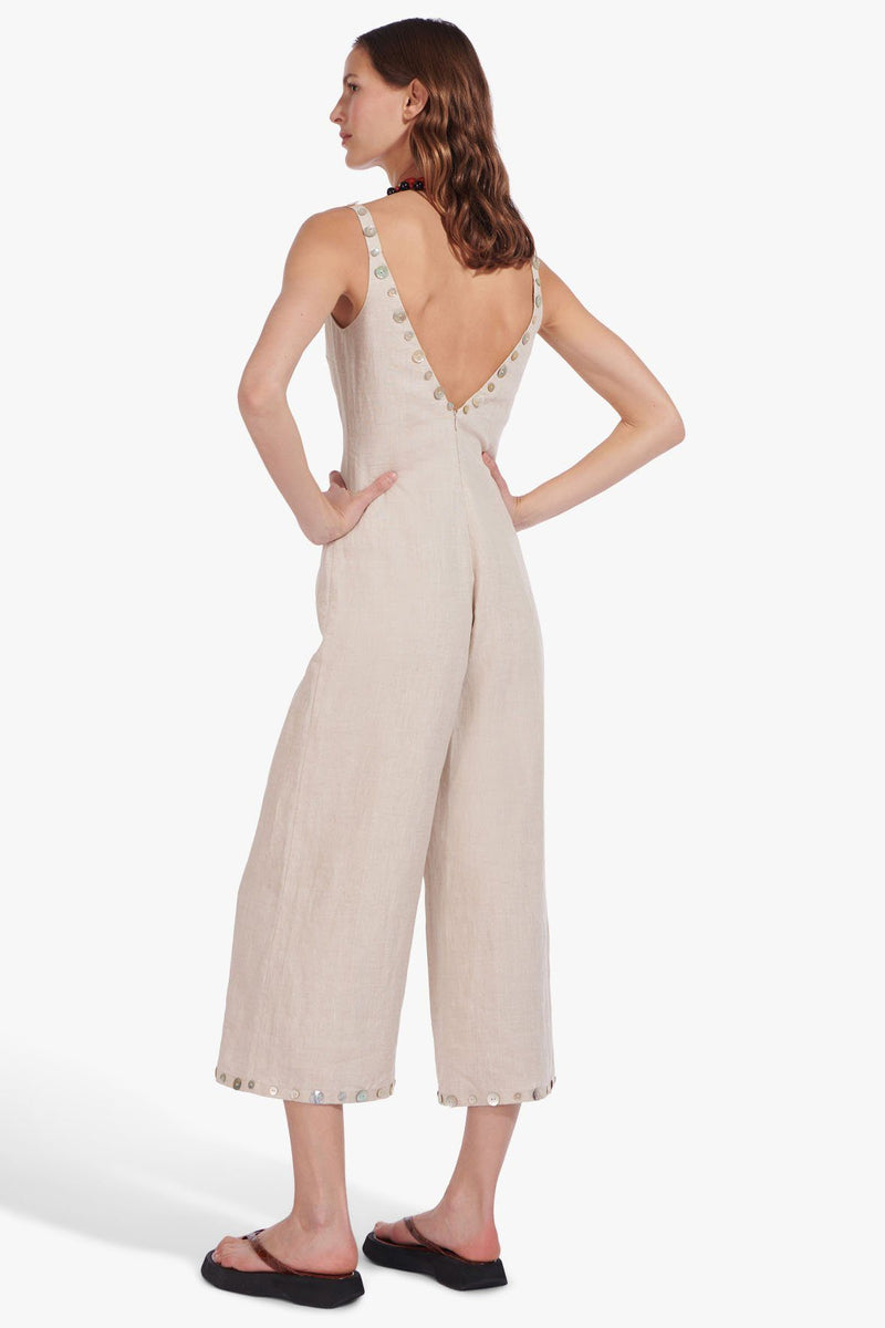 STAUD PHOENIX JUMPSUIT | NATURAL