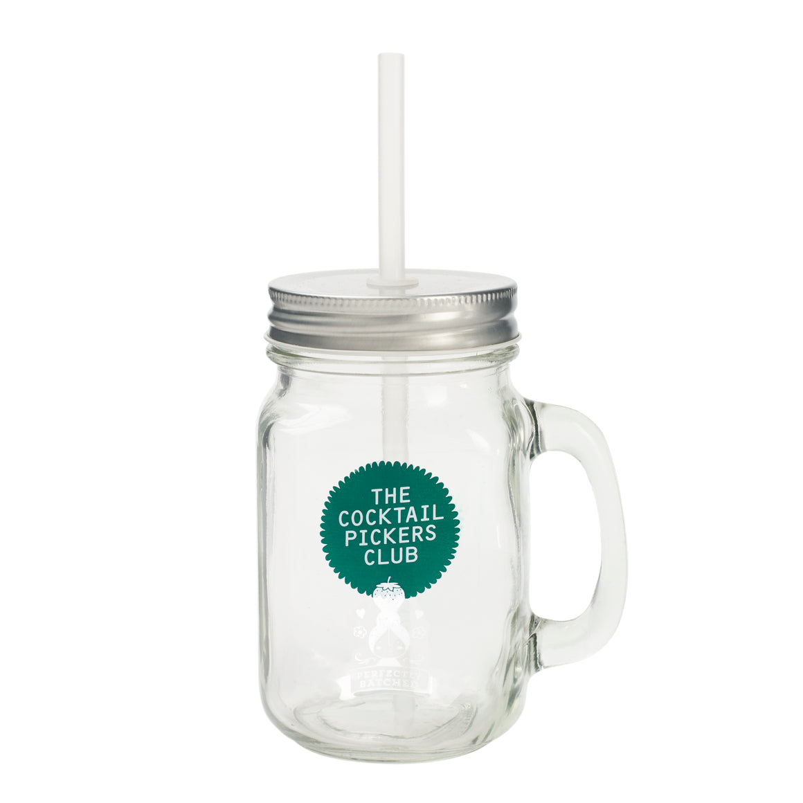 Cocktail Pickers Drinking Jar with Straw
