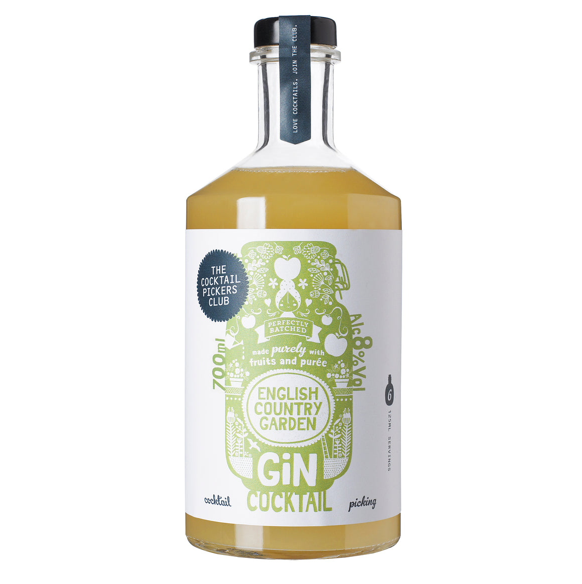 English Country Garden Gin Cocktail 3x 700ml