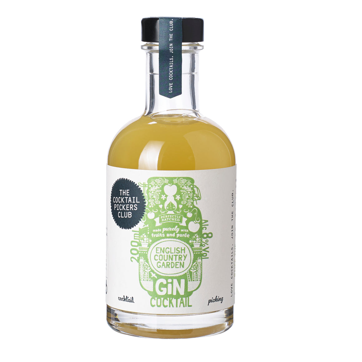 "'Mini Pickers"" English Country Garden Gin Cocktail 2x 200ML"