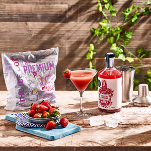 'Mini Pickers' Strawberry and Rhubarb Vodka Cosmopolitan 2x 200ml