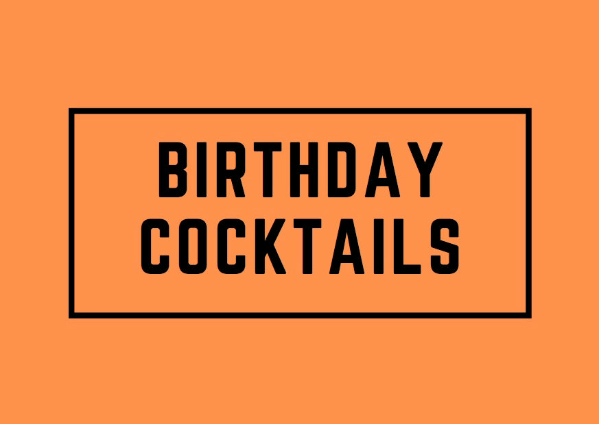 Birthday Cocktails gift note