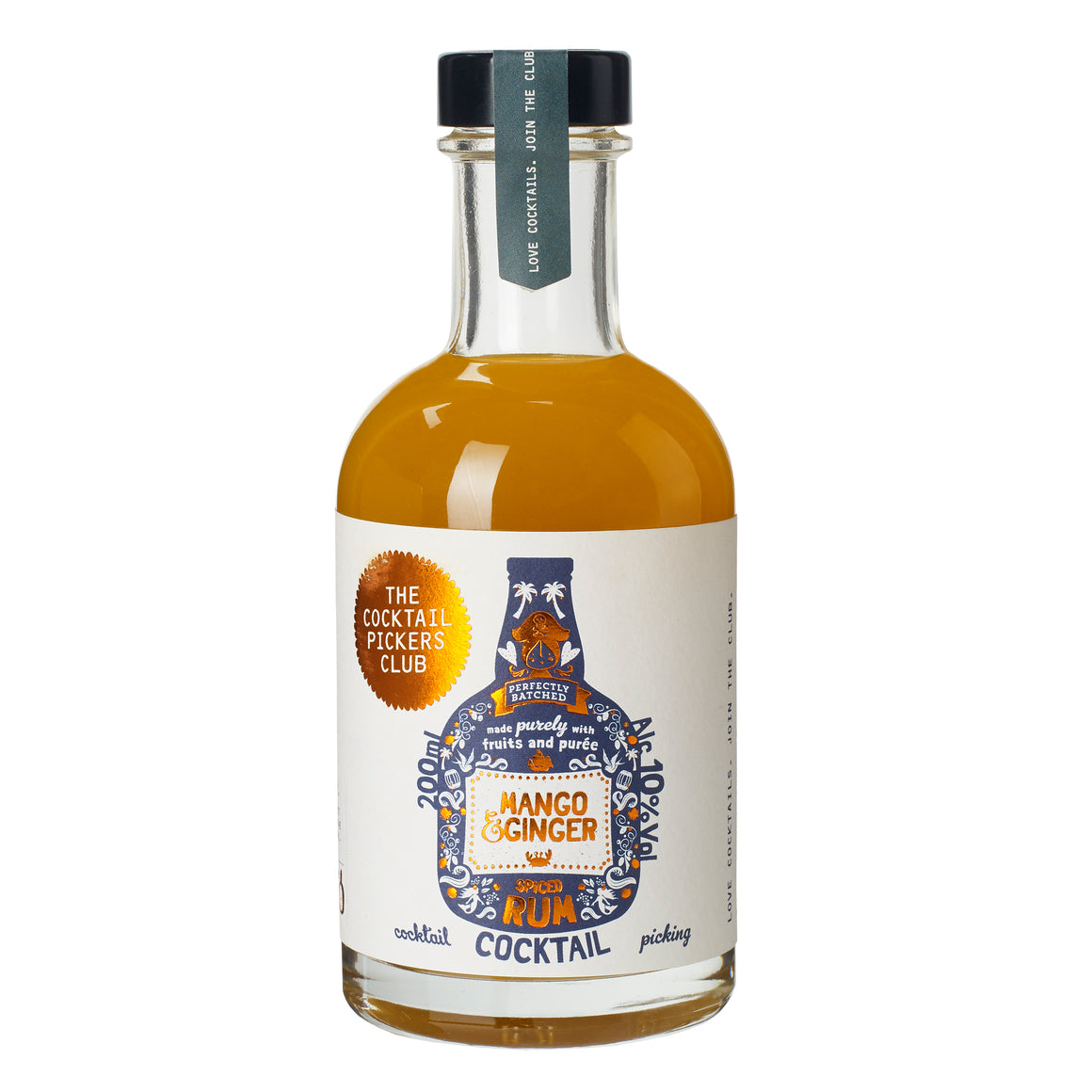 Mango and Ginger Spiced Rum Cocktail 200ml