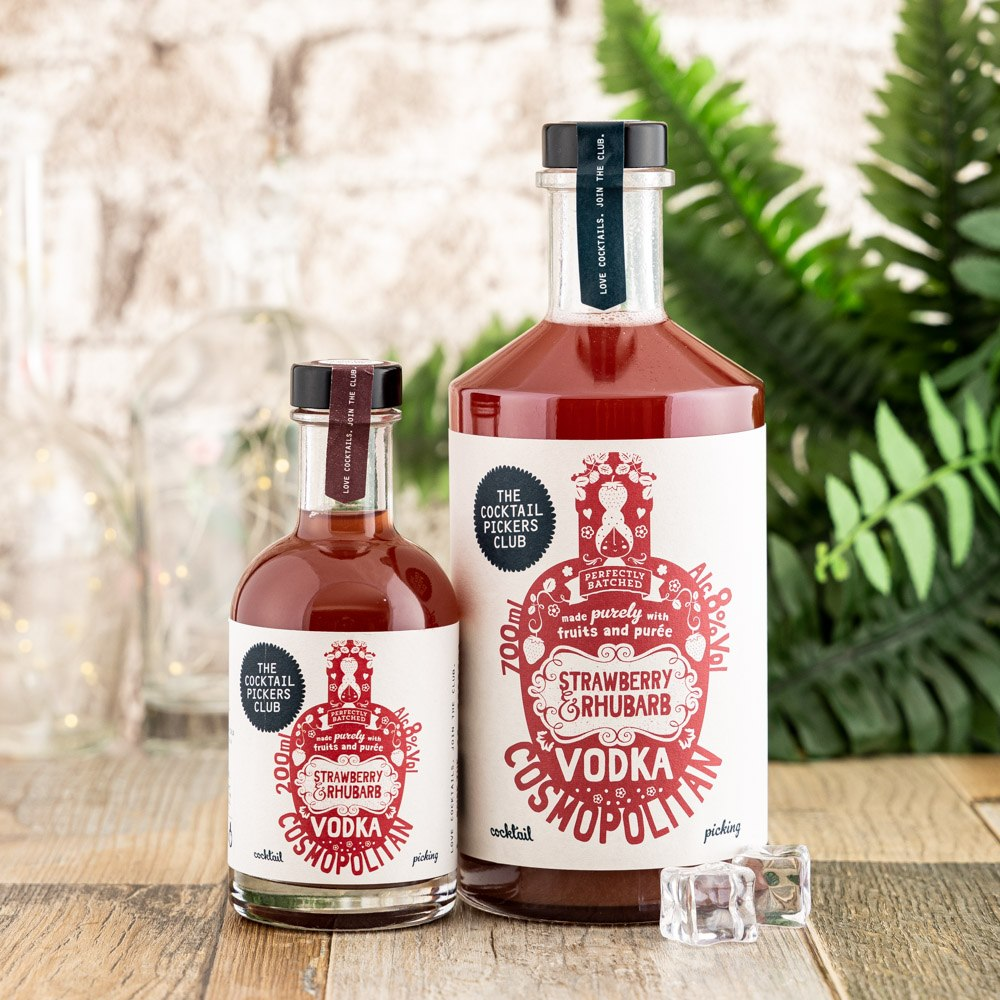 Strawberry and Rhubarb Vodka Cosmopolitan Bundle