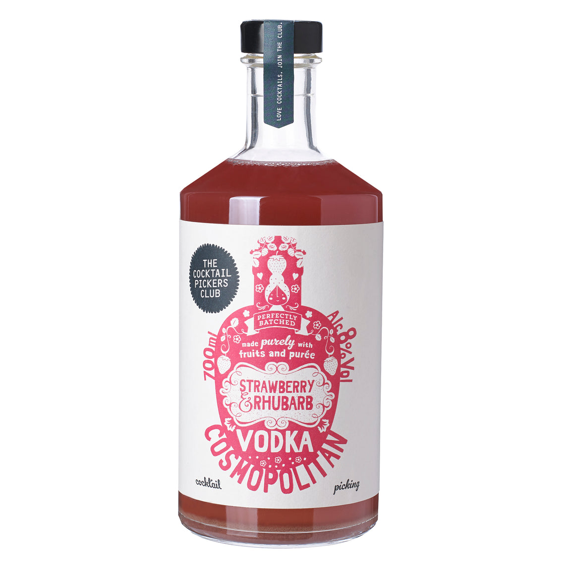 Strawberry & Rhubarb Vodka Cosmopolitan 700ml
