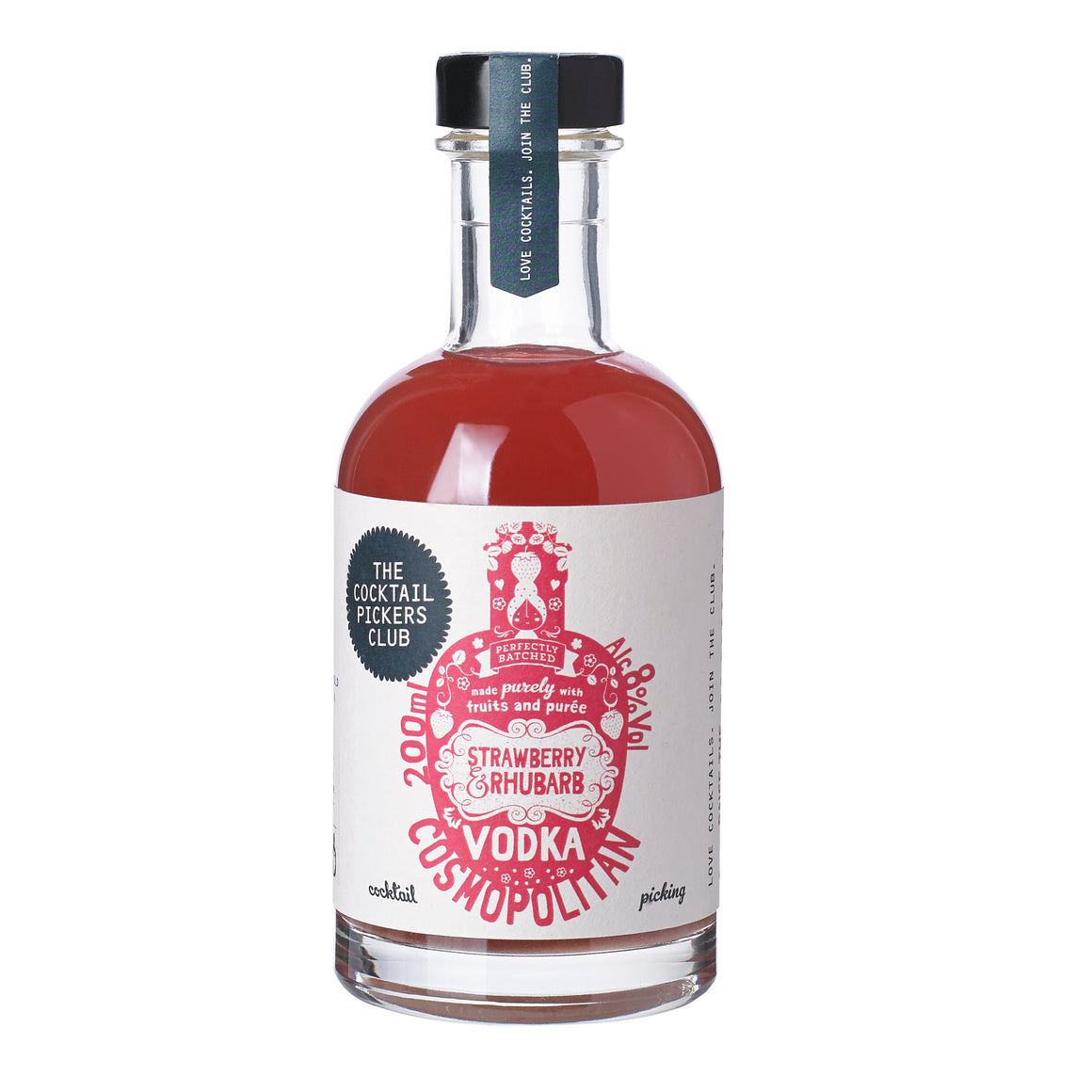 'Mini Pickers' Strawberry and Rhubarb Vodka Cosmopolitan 200ml
