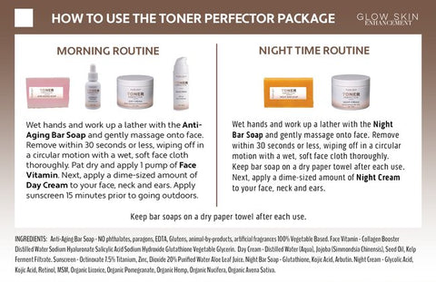Toner Perfector how to use instruction card