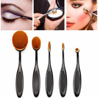 5PC/Set Toothbrush Style Eyebrow Brush Foundation Eyeliner Makeup Brushes