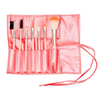 7 PCS Makeup Brush Set Blending Blush Eyeliner Face Powder Brush Pink
