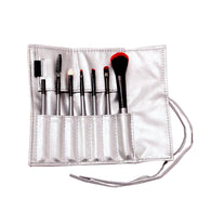 7 PCS Makeup Brush Set Blending Blush Eyeliner Face Powder Brush Silver