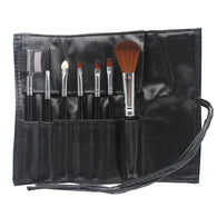 7 PCS Black Makeup Brush Set Blending Blush Eyeliner Face Powder Brush