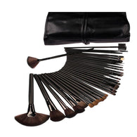 32 PCS Black Makeup Brush Set Blending Blush Eyeliner Face Powder Brush