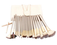 24 Pieces Fashion Makeup Brushes Sets/Professional Makeup Brushes, White