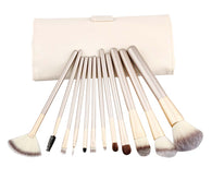 12 Pieces Fashion Makeup Brushes Sets/Makeup Brushes, White
