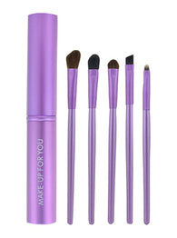 5 Pieces Fashion Eyes Brushes Sets/Eye Makeup Brushes, Purple