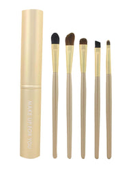 5 Pieces Fashion Eyes Brushes Sets/Professional Eye Makeup Brushes, Gold