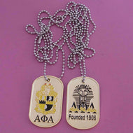 Alpha Double-Sided 'Dog Tags' Necklace