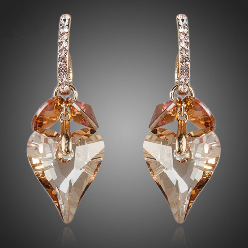 'Heart Drop' Austrian Crystal Earrings