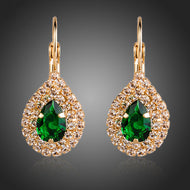 Emerald-Colored 'Teardrop' Earrings