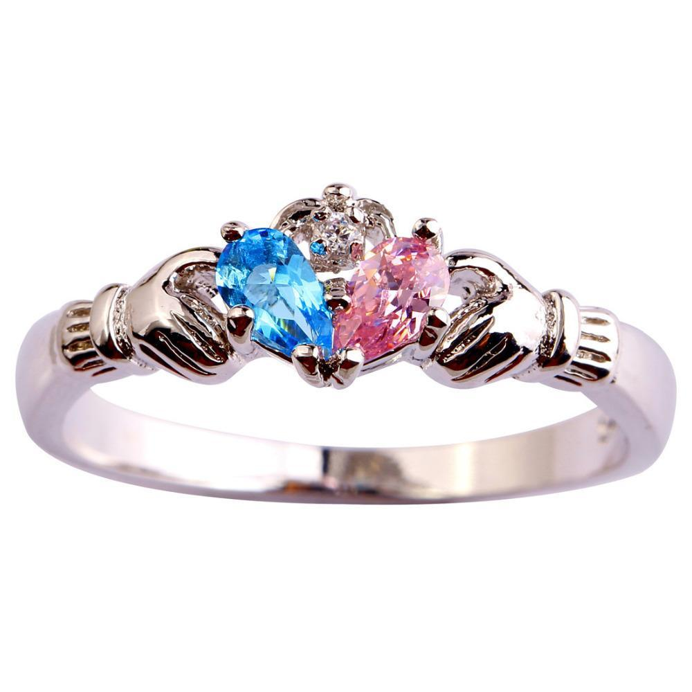 Colorful 'Water Drop' Topaz Rings