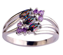 Mysterious Multicolor Amethyst Ring