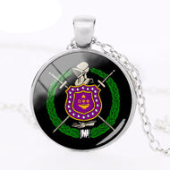 Que Psi Phi Dome Pendant Necklace