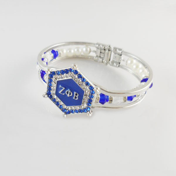 ZPhiB Charm Bead Bangle Cuff Bracelet
