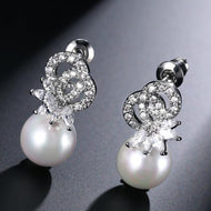 Luxury 'Phoenix Flower Pearl' Earring