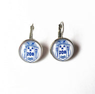 Zeta 'Round Glass' Charm Earrings