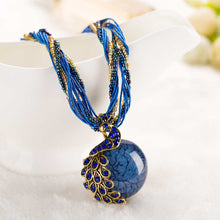 Peacock Stone Pendant Necklace