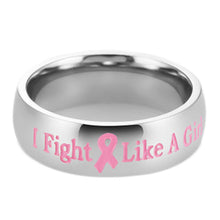 """I Fight Like a Girl"" Breast Cancer Awareness Ring"