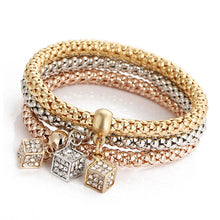 'Charm and Chain' Hollow Bangle Bracelets