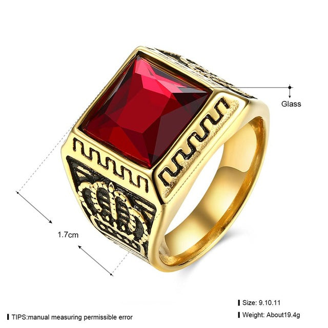 Noble Men's Crown Ring