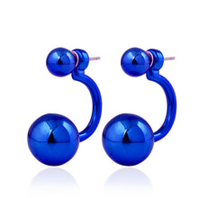 Curved Ear Stud Earrings