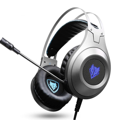 Microphone Voice-Controlled LED Gaming Headset