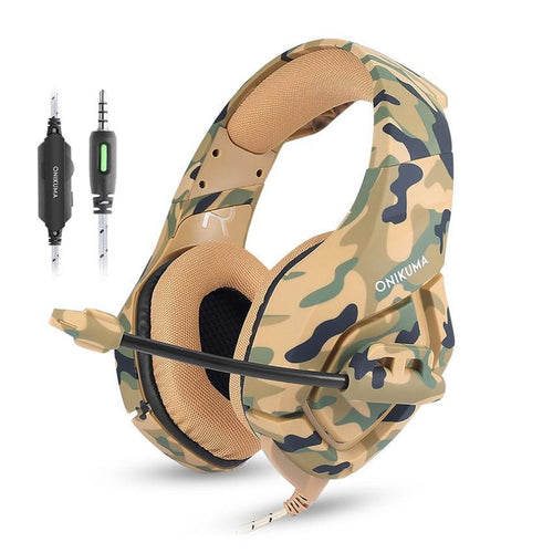 K1 Camouflage Gaming Headsets