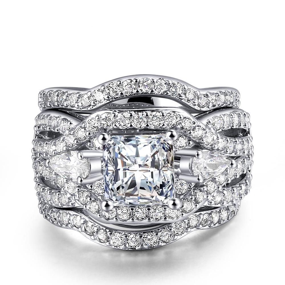 Brilliant Marquise-Shaped Rings