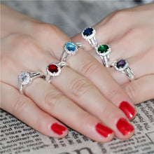 'Love Lady' Multicolor Rings