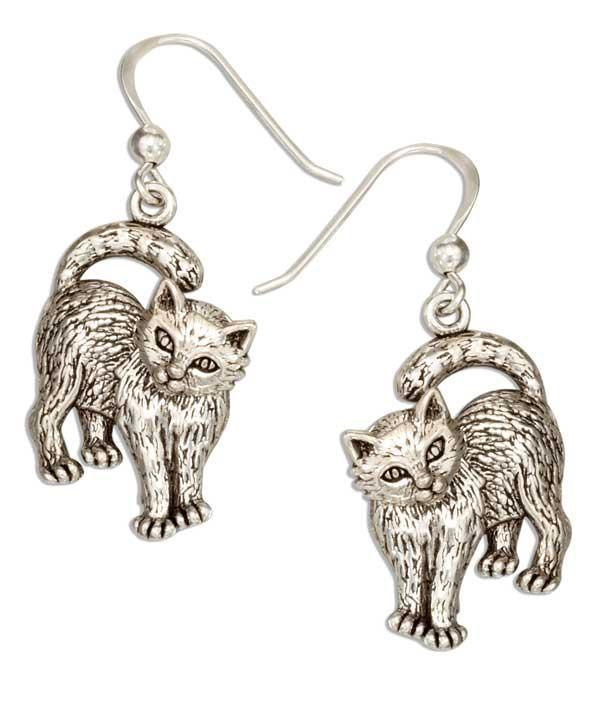 'Inquisitive Kitty' Movable Earrings
