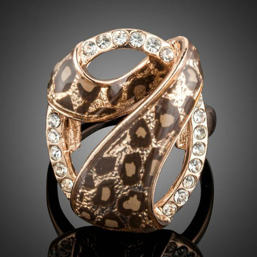 '7 Design' Rose Gold-Plated Leopard Rings