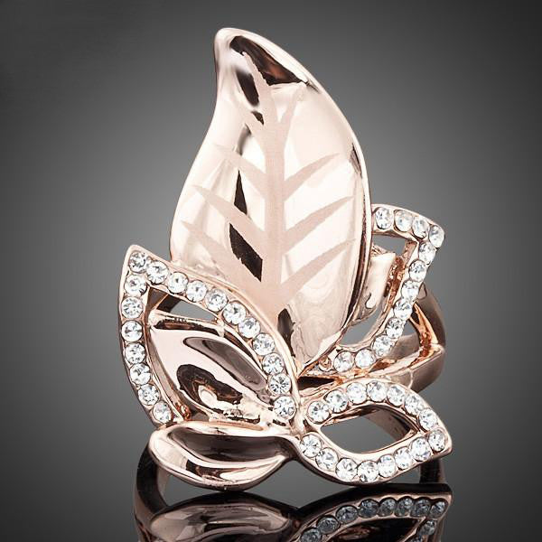Gorgeous Gold-Plated 'Leaves' Ring